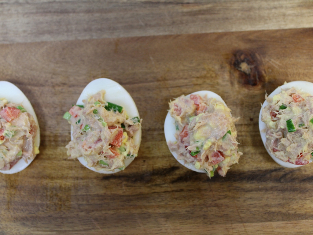 Healthy Tuna and Deviled Eggs