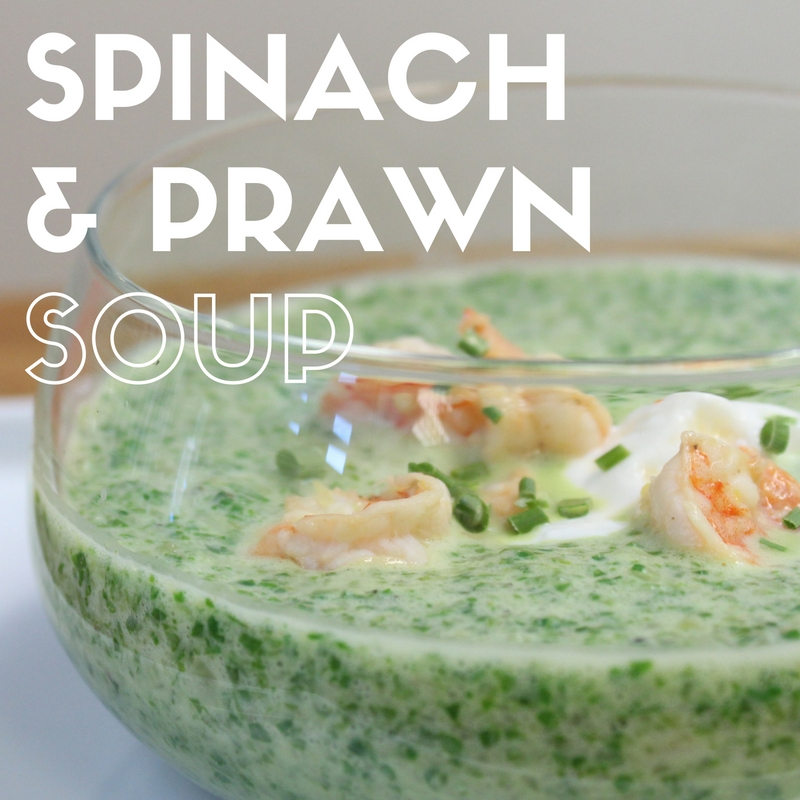 Spinach and Prawn Soup Recipe